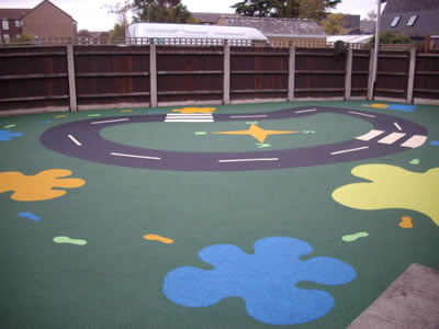 Altham House Women's Aid, Harlow Wetpour Play Area