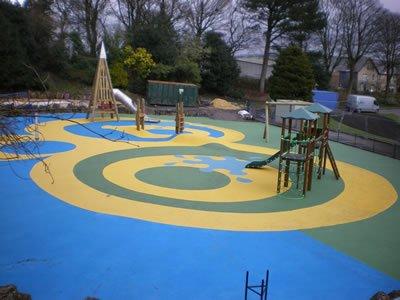 Wetpour Play Area at Bold Venture Park, Darwen, Lancashire