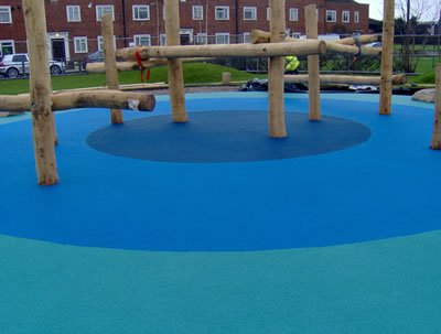 Colourful Wetpour, Chester Road Play Area, Hounslow