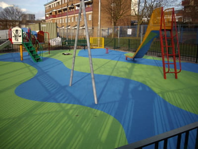Wetpour Safety surface Birmingham community playground