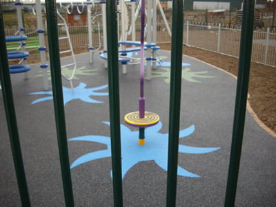 Safety surfacing at a Banbury playground