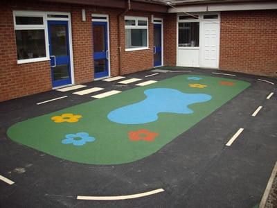 St Veronica's Wetpour Playground Roadway