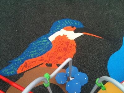 Artistic Kingfisher Playground Surface