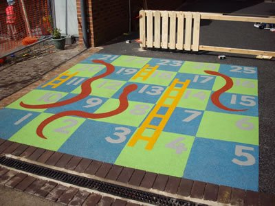 Snakes and Ladders wetpour safety surfacing