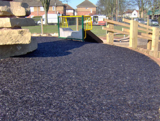 Bouncebark recycled rubber surface