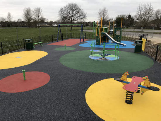 Rubberised Wetpour playground