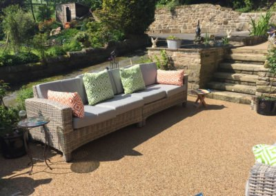 Aggre-scape patio lounge area
