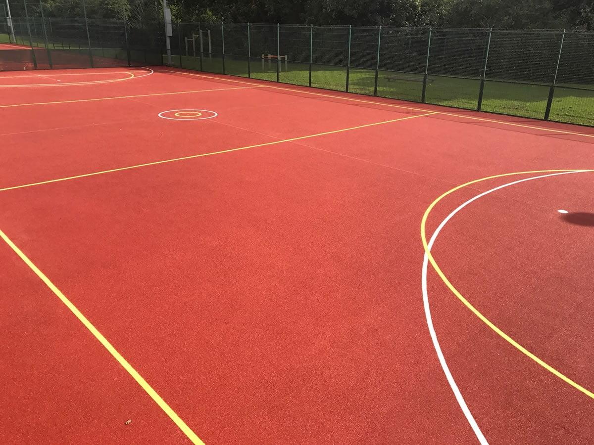 Wetpour sports court